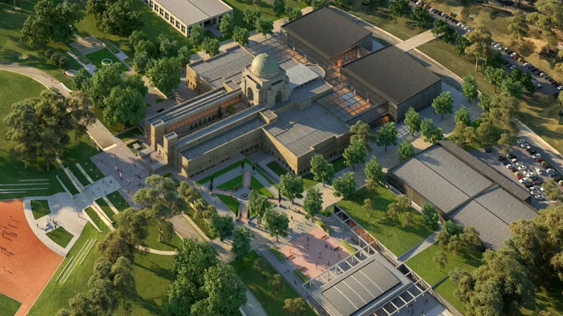 """▲ Parliamentary hearings heard the $500m redevelopment of Anzac Hall (pictured) was """"wasteful and unnecessary""""."""