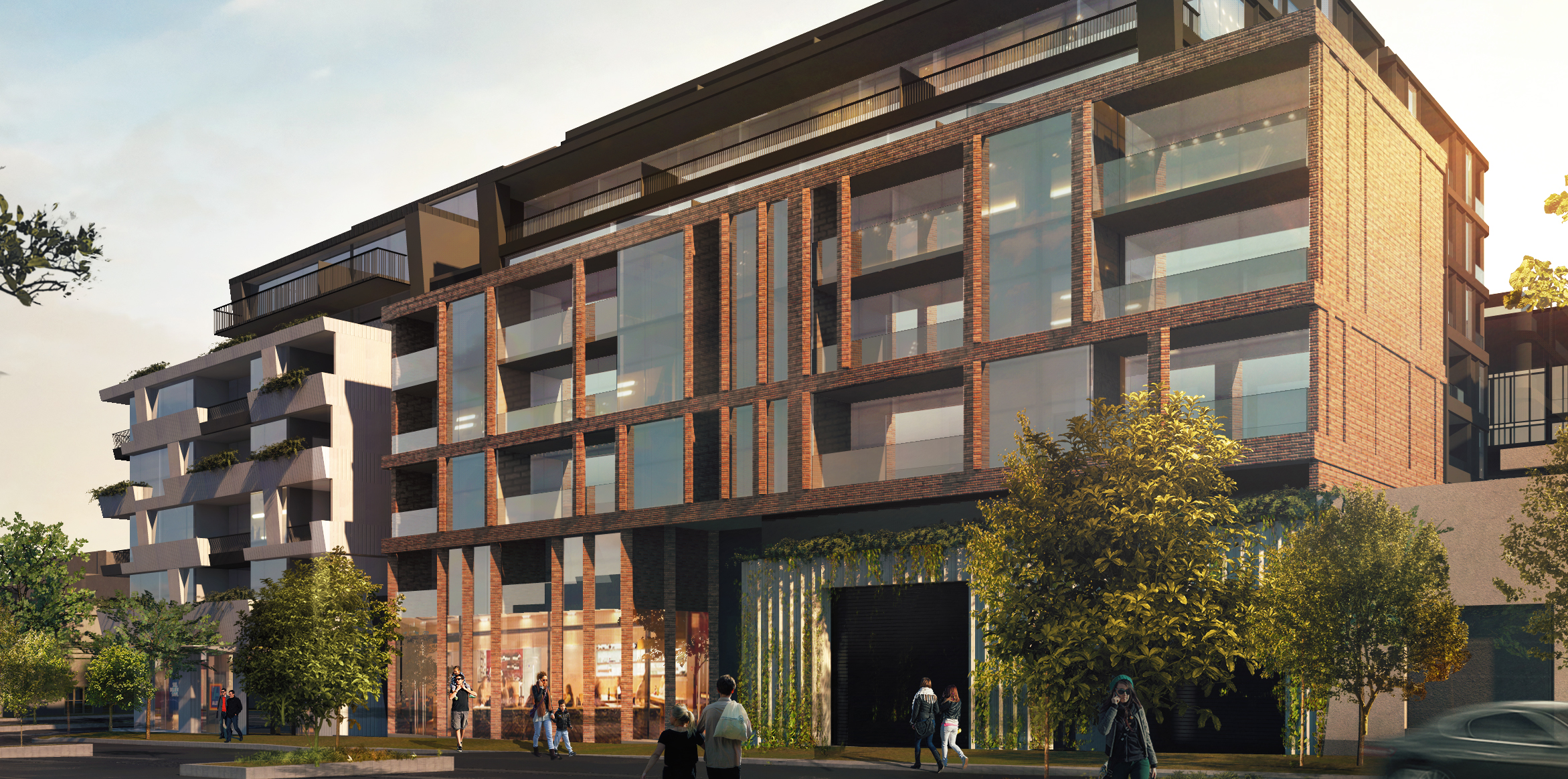 The eight-storey project comprises 193 apartments, an Aldi supermarket and a new laneway off Spencer Street.