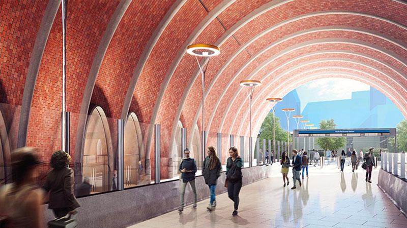 Melbourne Metro Tunnel - North Melbourne Station