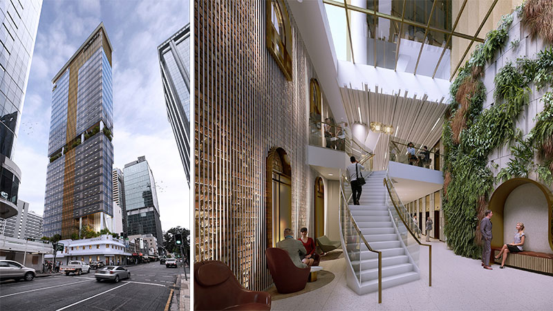 ▲ The proposed development at 320 George Street. Image: Hames Sharley