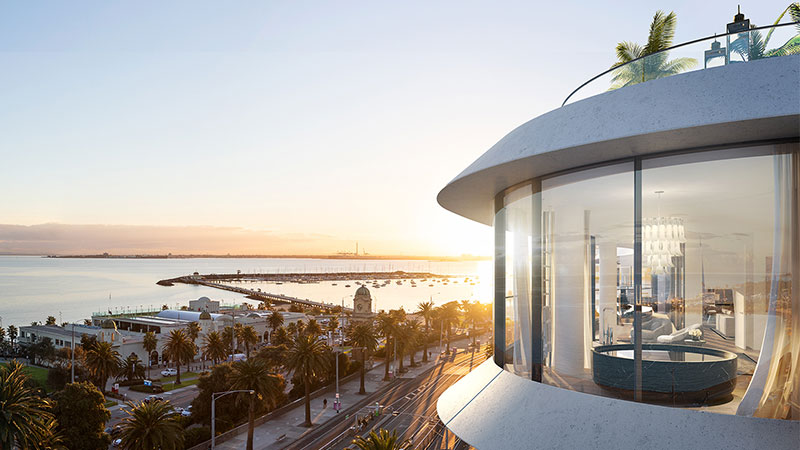 ▲ Gurner smashed Melbourne's penthouse record earlier this year at the Saint Moritz project with a $30 million apartment sale to Ex-Domain boss Antony Catalano. Image: