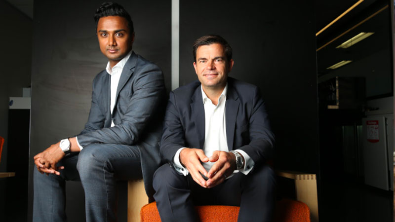▲ Taronga Ventures founders Avi Naidu and Jonathan Hannam. The proptech venture capital investor already invests in businesses such as virtual reality group Inspace XR and has also taken an interest in collaborative workspace business WorkClub.