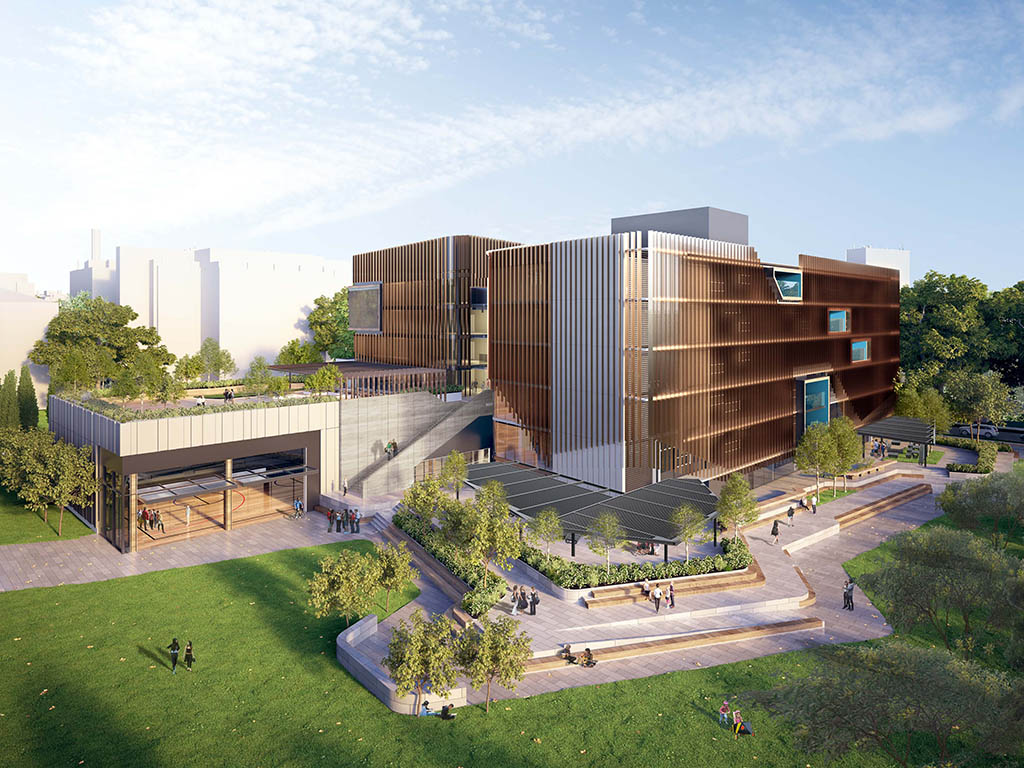 The $100m Adelaide Botanic High School will be a 7-storey building located in the CBD. Cox Architecture with DesignInc.