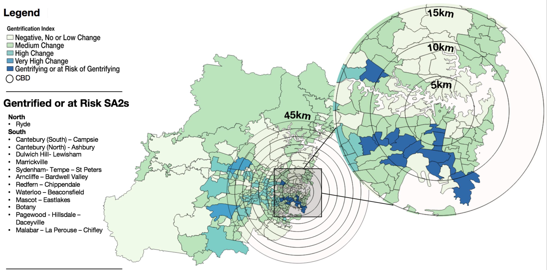 Sydney suburbs gentrification