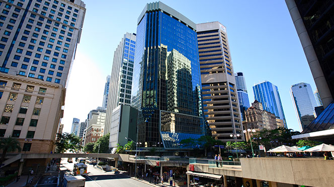 ▲ Australian Unity Office Fund owns 241 Adelaide Street, Brisbane and eight other office buildings.