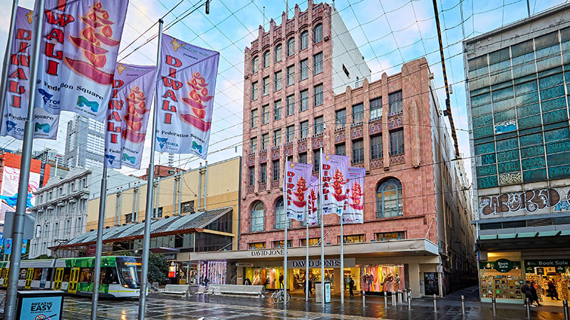 ▲ Among high-profie retail assets listed recently in Melbourne is David Jones' 2,232sq m site at 299 Bourke Street.