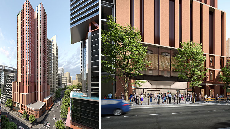 ▲ Oxford Properties plans for its south building over station development on Pitt Street.