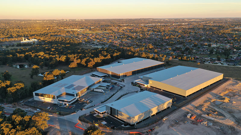 Stage 1 of the $230 million Marsden Park Logistics Estate in Western Sydney