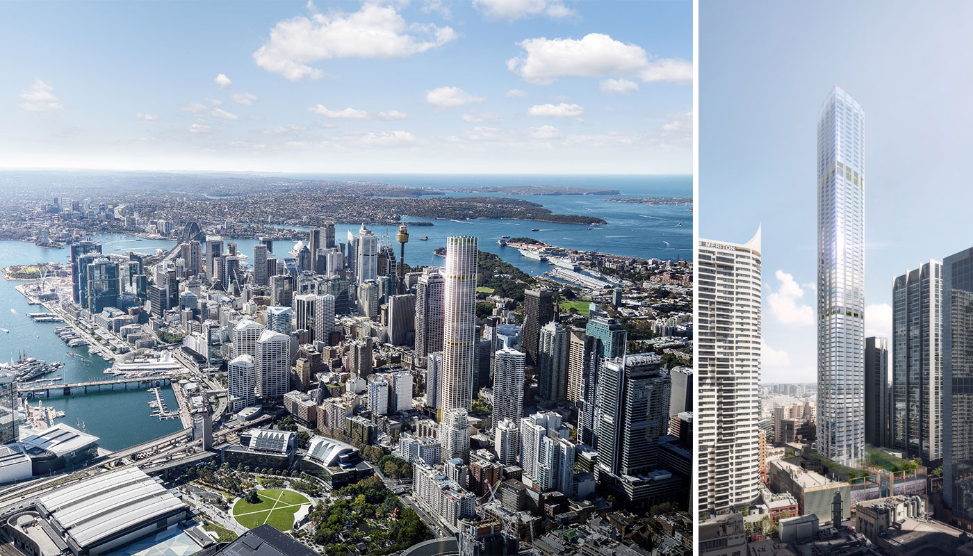 Düsseldorf-based firm Ingenhoven and Architectus will design the $1 billion George Street super-slim skyscraper at 505-523 George Street.