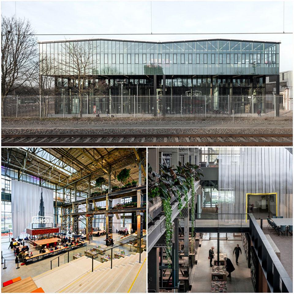 LocHal Public Library | Civic architects Braaksma & Roos Architectenbureau, Inside Outside / Petra Blaisse (Netherlands)
