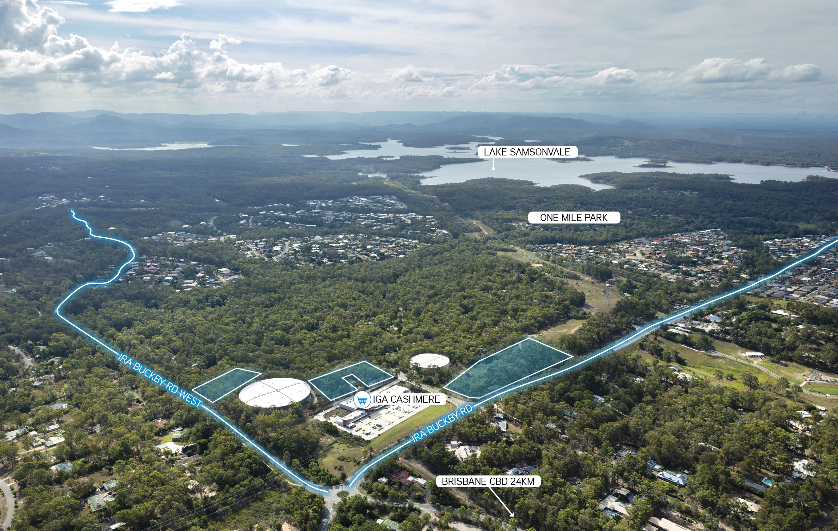 The properties combine to a total area of 3.07 hectares with approximately 1.47ha of developable area.