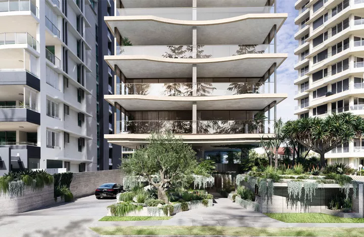 The Bureau Proberts-designed development will comprise 33 apartments with 16 levels of half-floor apartments and one ground floor terrace unit.