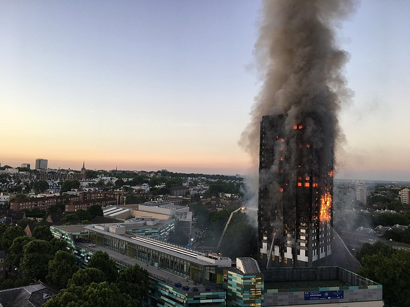 It is estimated that 10 per cent of buildings registered will have been built with the same flammable cladding blamed for London's tragic Grenfell Tower fire (pictured).