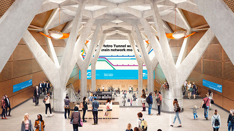 Melbourne Metro Tunnel - Town Hall Station