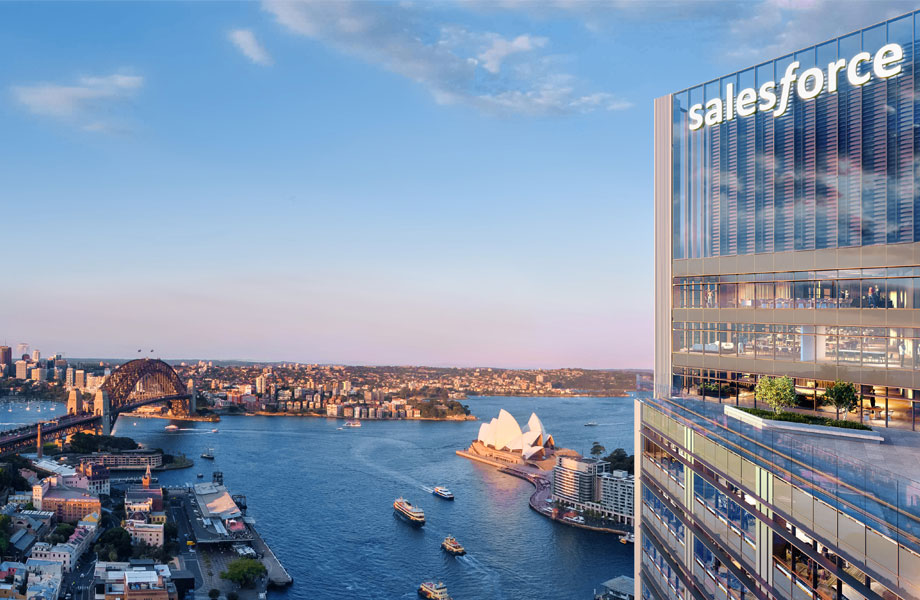 ▲ US software giant Salesforce will take 24-storeys in the Circular Quay tower.