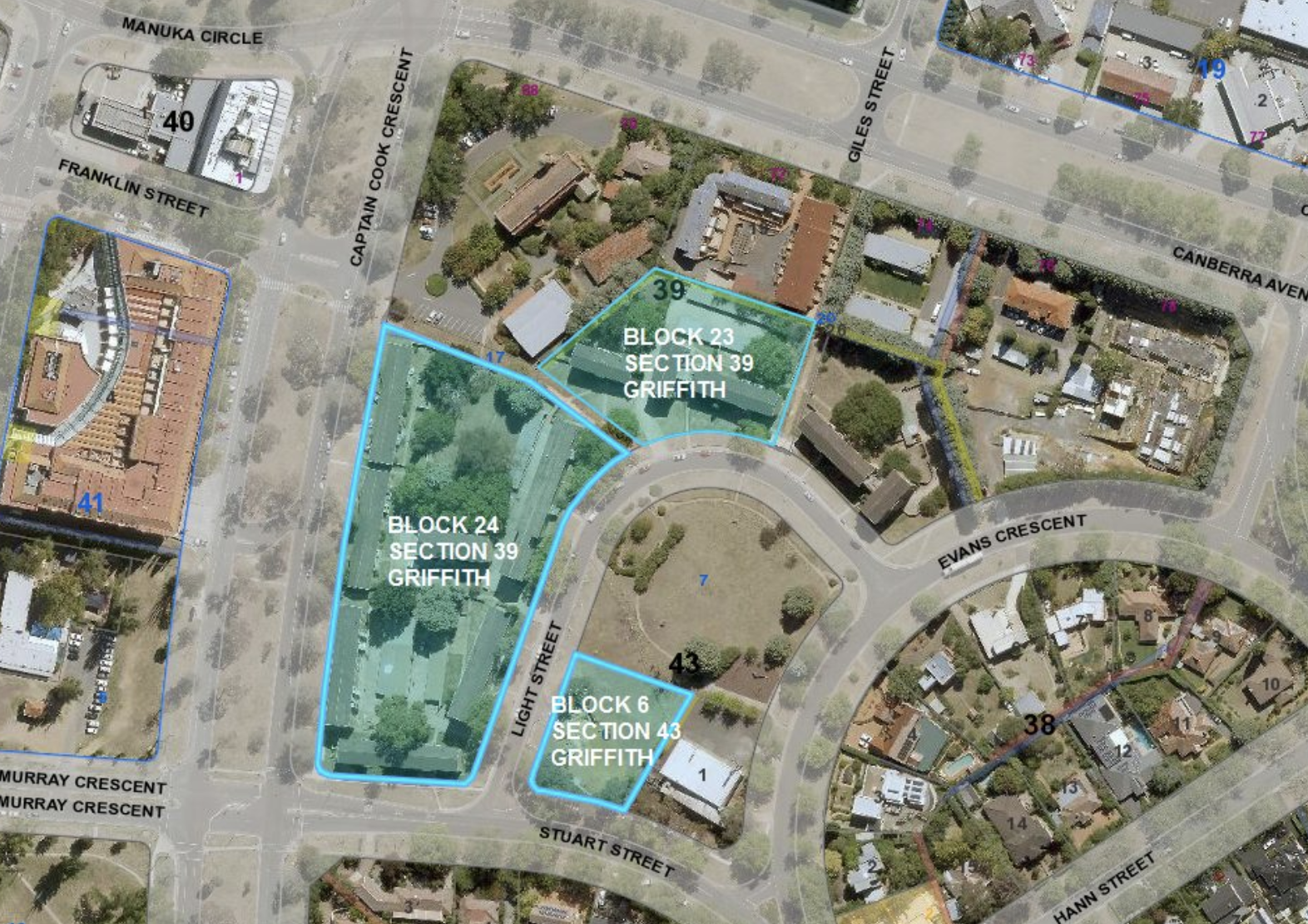 The redevelopment will take place over three parcels of land.