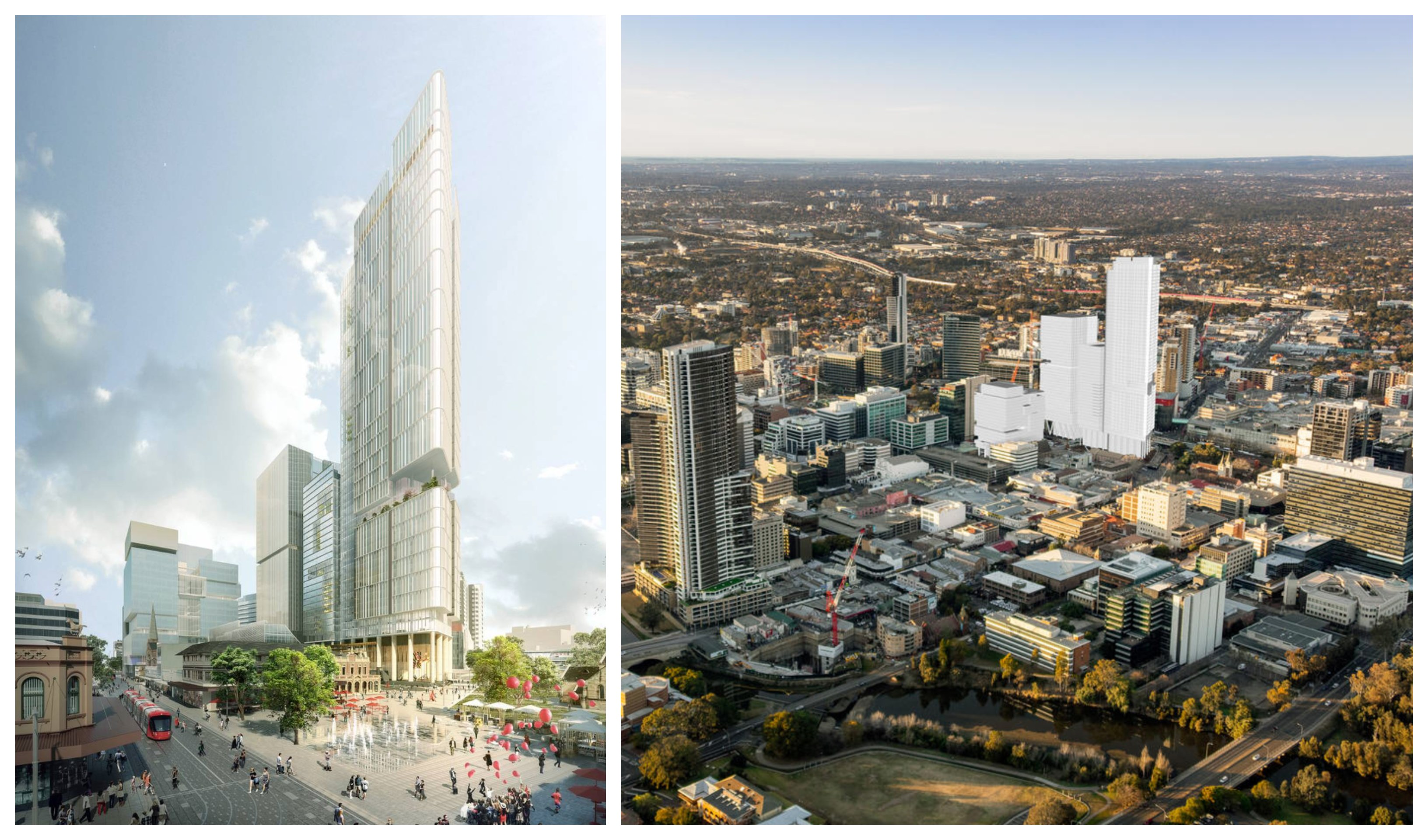 Architectural firm Johnson Pilton Walker (JPW) created the design of Towers 6 and 8 Parramatta Square, after winning a competitive design excellence process.