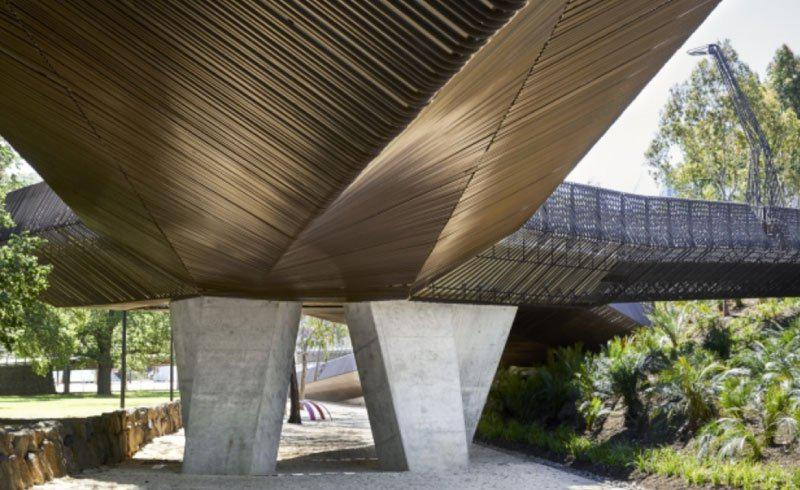 Tanderrum Bridge really does look like an animal standing its ground on Melbourne CBD. Photo: John Wardle Architects