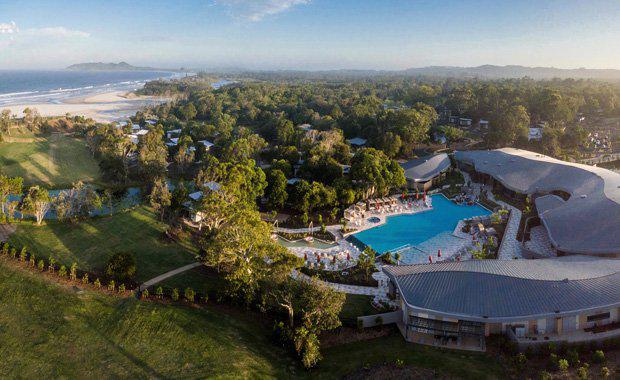 Aerial-view-of-Elements-of-Byron-resort-Byron-Bay