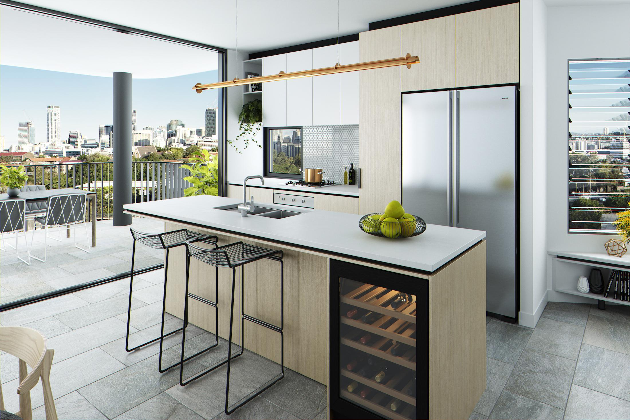 Alto's three-bedroom kitchen render