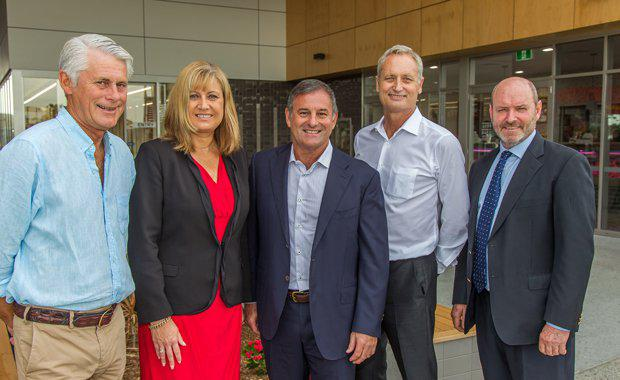 Geoff-Provest-Justine-Elliot-Don-ORorke-Scott-Hutchinson-and-Gary-Bagnall-at-Casuarina-Village-opening