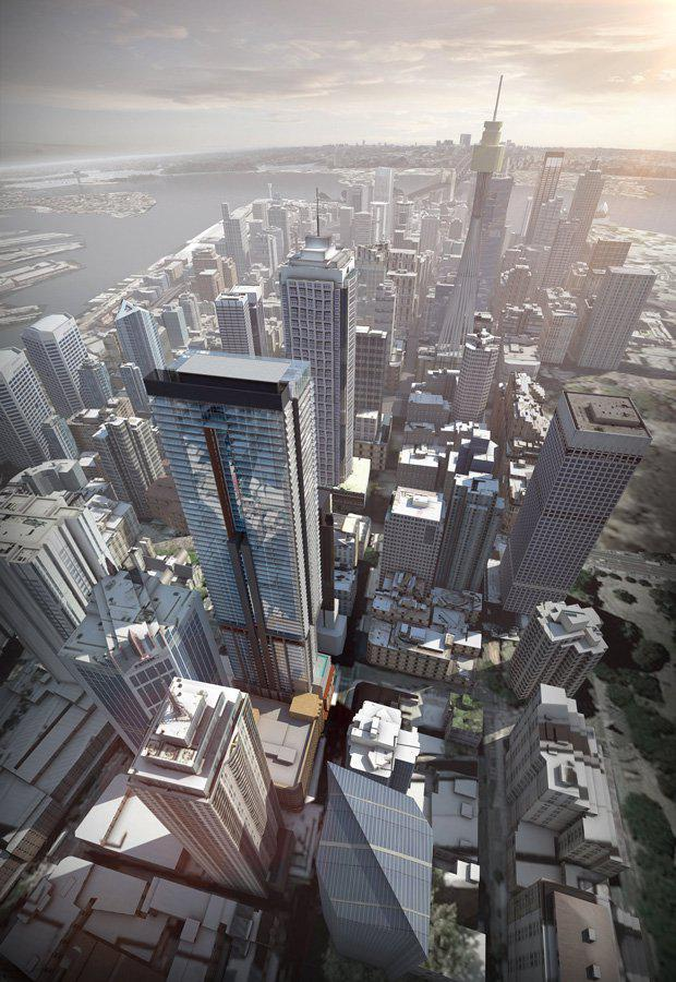 Greenalnd Centre Sydney (centre-left) will become Sydney's tallest residential tower.