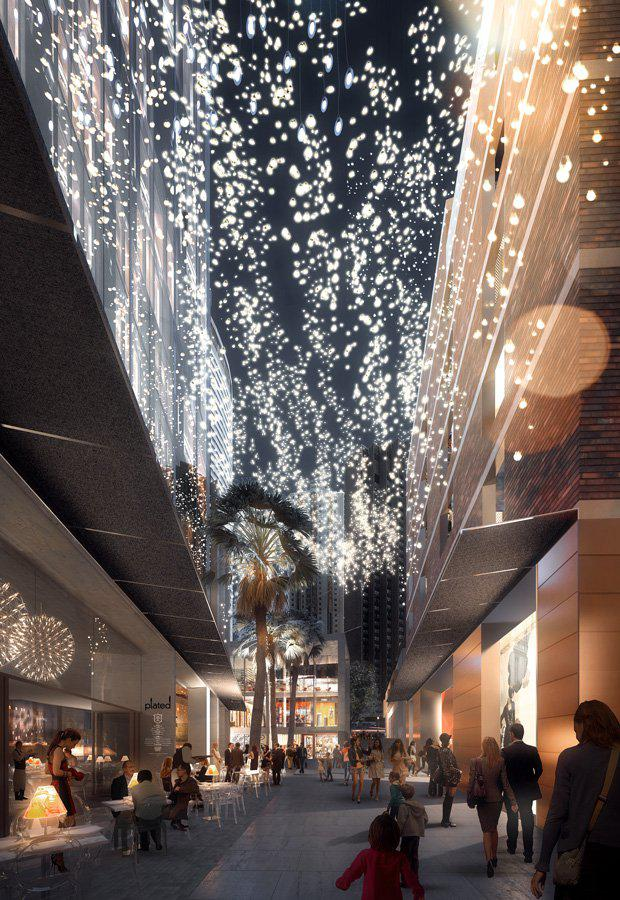 Artist's impression of proposed Circular Quay laneway.