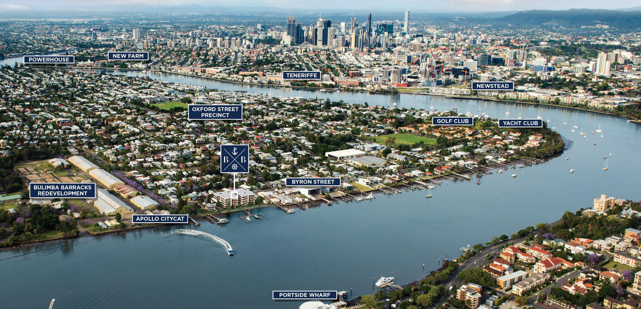 The Boatyard development. Bulimba's soon-to-be developed waterfront includes the old barracks and the Cairnscross Quay which sold to Lendlease in August 2016.