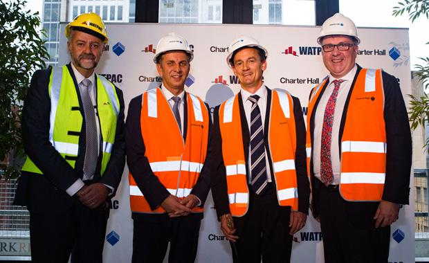 L to R---Nick-Saccley, Minister Andrew Constance, Adrian Taylor, Andrew Borger