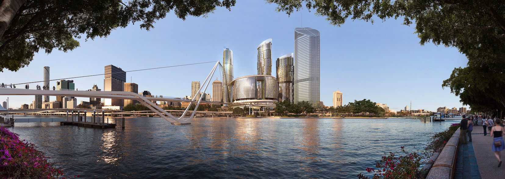 Queen's Wharf development Brisbane - Neville Bonner Bridge2