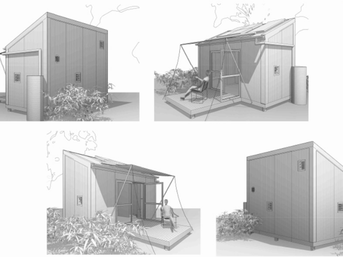 Artist concepts of the Tiny Homes