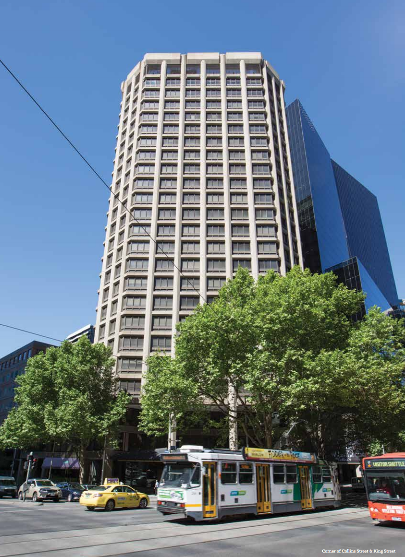 Existing building at 555 Collins Street
