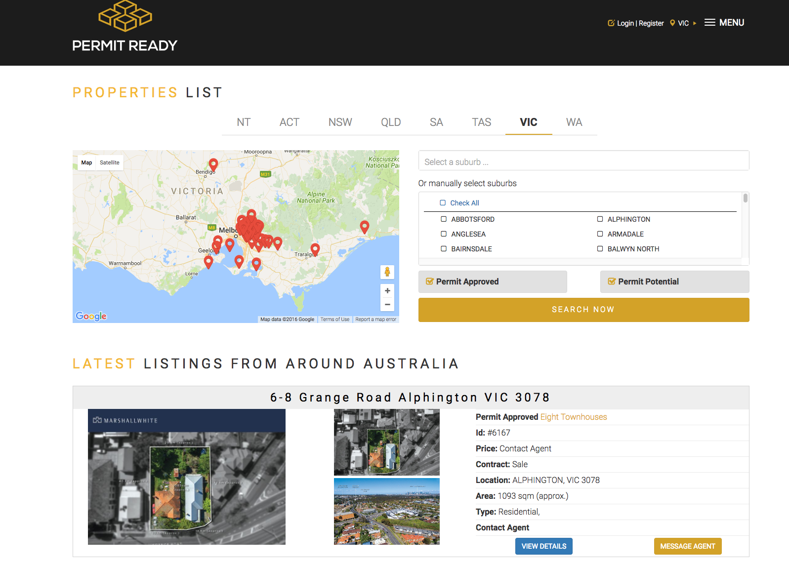 "PermitReady.com.au features development-approved and development ""potential"" sites from across Australia."