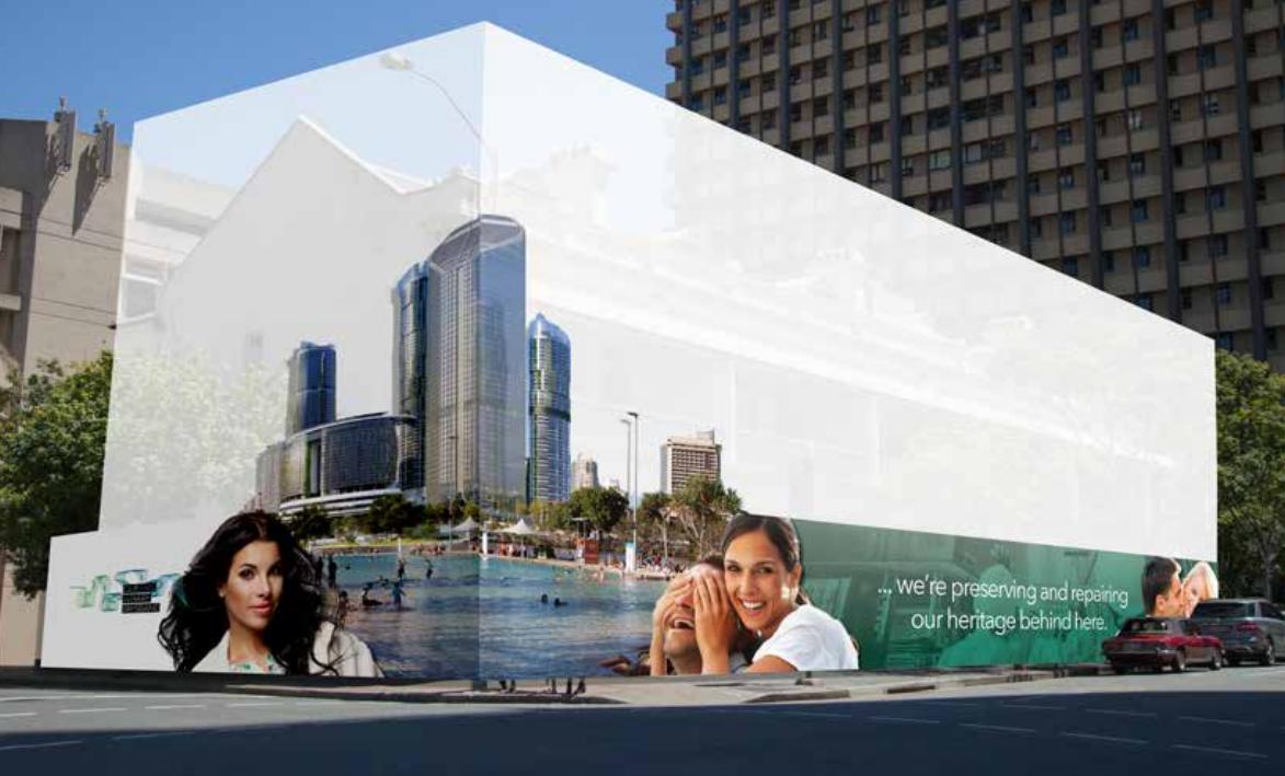 queens wharf advertising