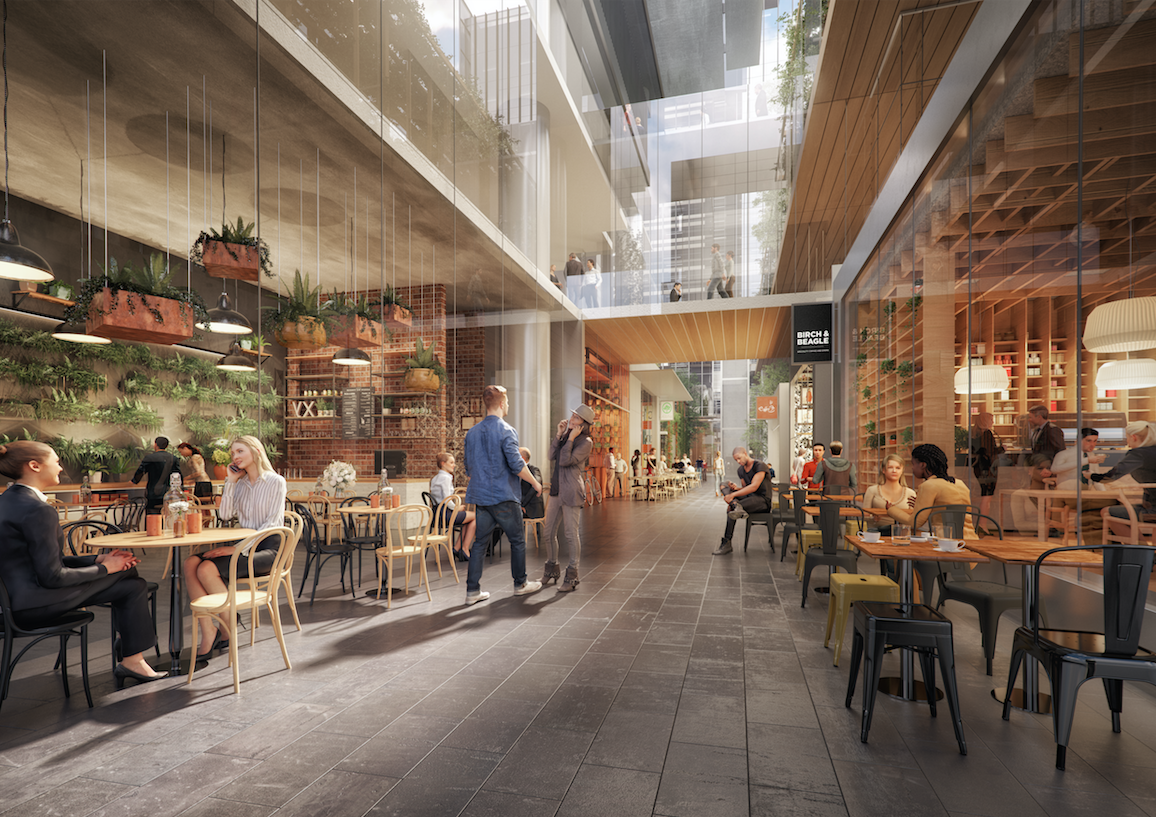 Melbourne Quarter precinct's new laneway, Market Place Lane, located between One MQ and MQ Tower
