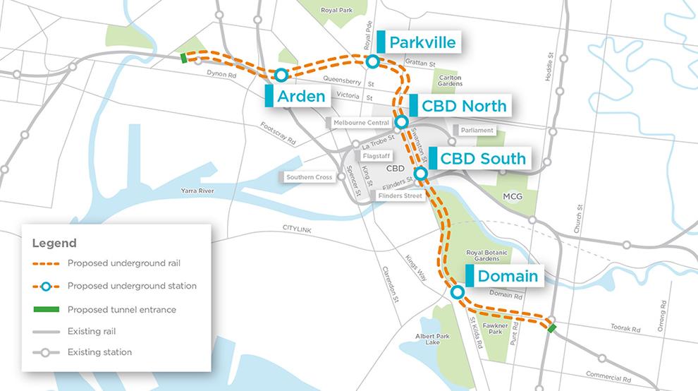 metro tunnel plan