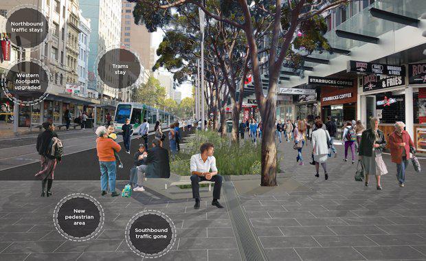 elizabeth street upgrade, green