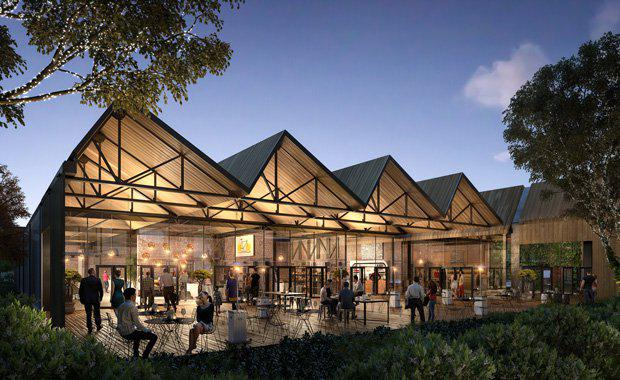 Artist impression of the retail precinct at The Paper Mill