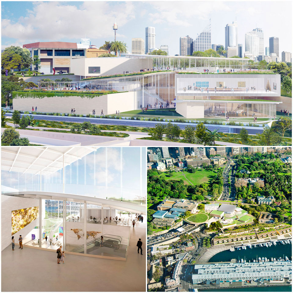 ▲ The interlocked pavilions will be connected by a large, multi-level atrium that will have views towards Sydney Harbour through glass walls.
