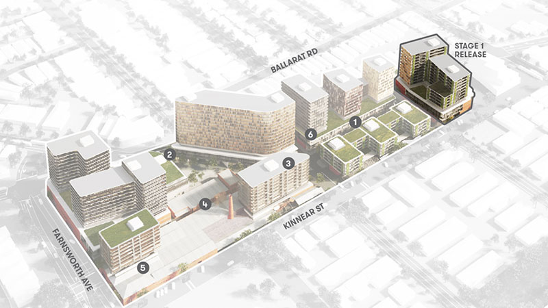 The site has plans for a residential and mixed-use precinct of up to 1,450 dwellings.