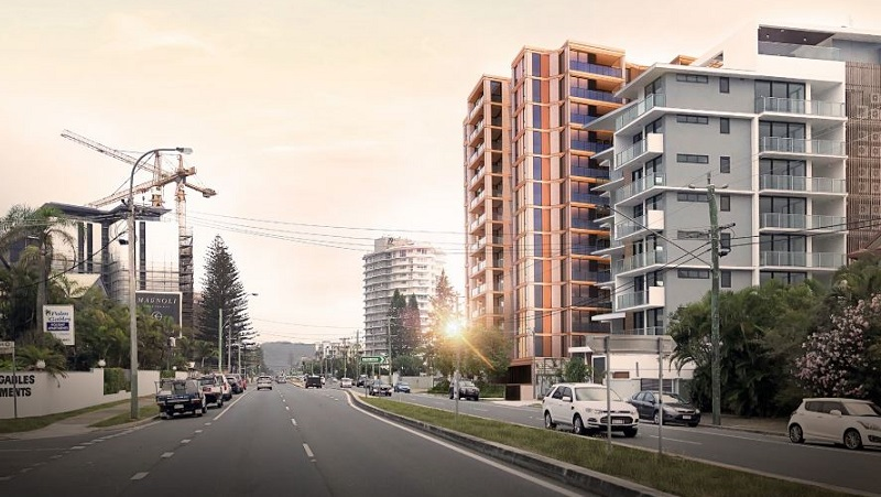 ▲ H&F Property plan to build a tower at Seventeenth Avenue, Palm Beach near many projects under construction along the Gold Coast Highway.