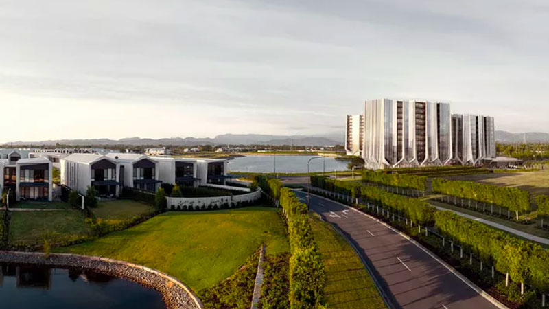 ▲ Sunland lodged revised plans in June for four residential towers at its $1.3 billion masterplan on the Gold Coast. Image: Contreras Earl