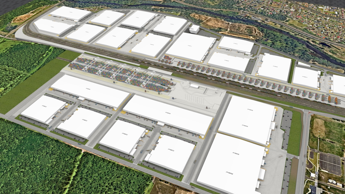 Qube - Moorebank Logistics Park - Snaploader's 3D visualisation of Australia's largest infra-structure project.