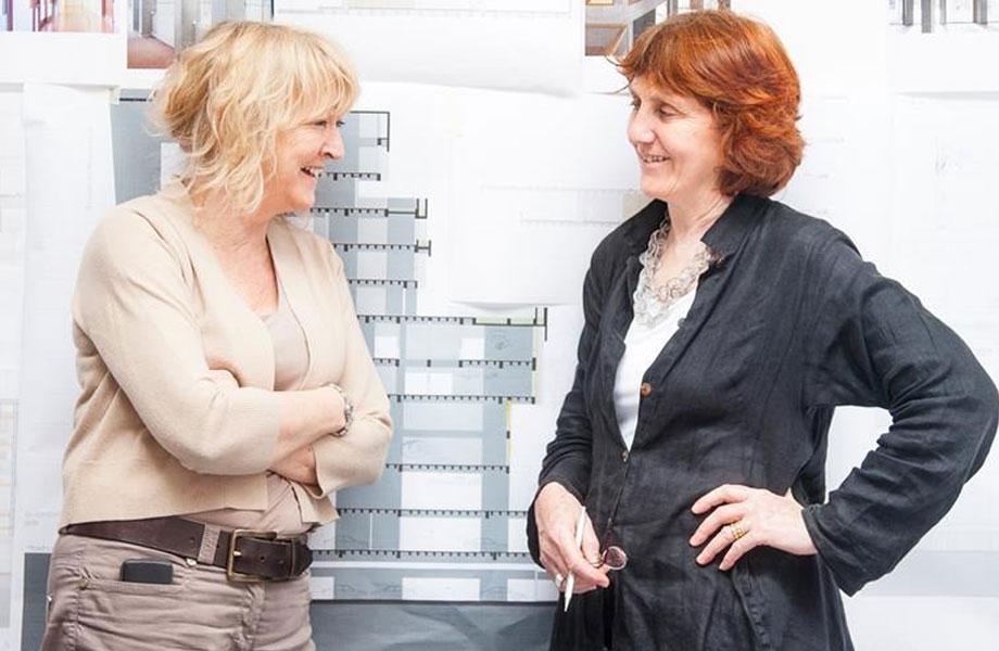 ▲ Grafton Architects directors Yvonne Farrell and Shelley McNamara.