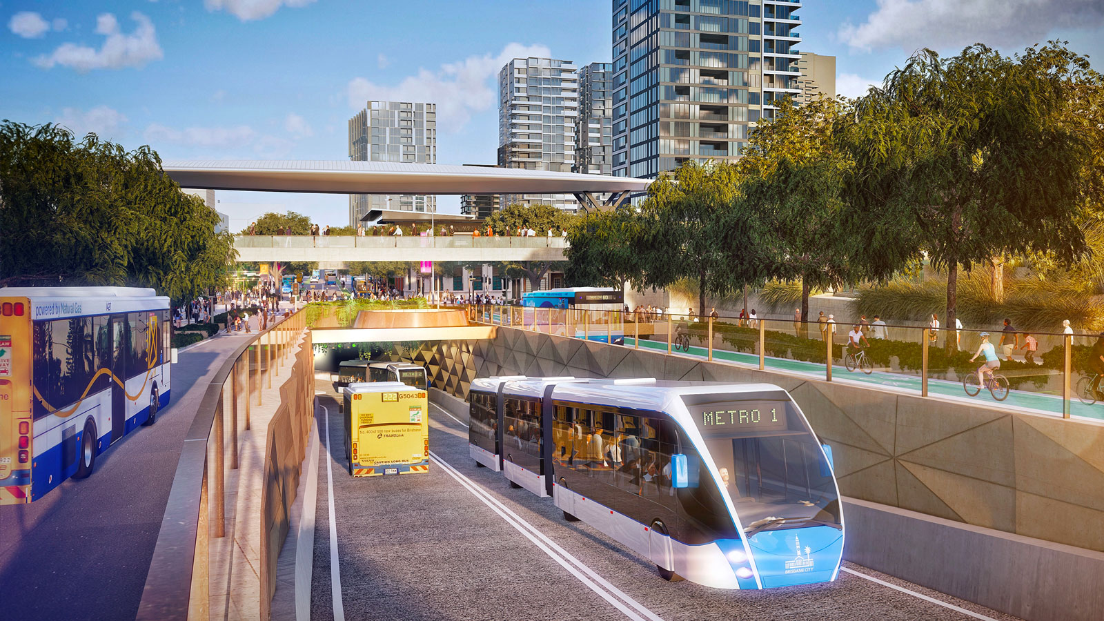 Major development projects Brisbane Metro