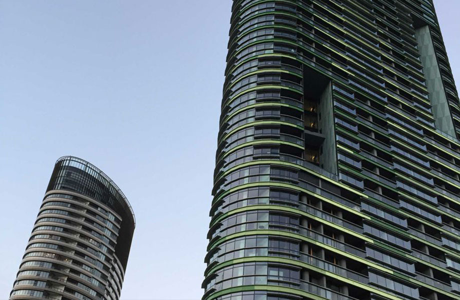 The 36-storey Opal Tower at Sydney Olympic Park.
