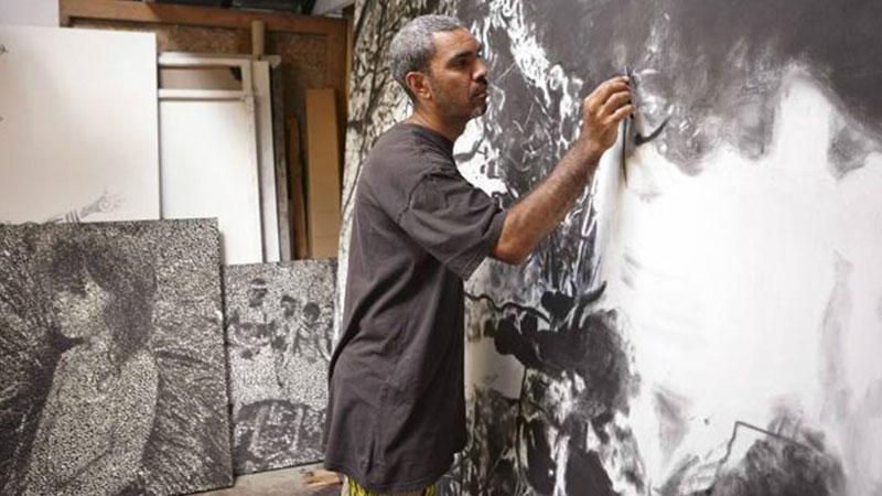 ▲ Sydney based artist Daniel Boyd.