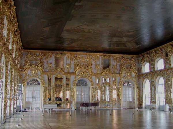 The Catherine Palace ballroom.
