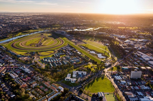 """Pace development manager Georgia Willis says the """"iconic design"""" will celebrate its """"locational context"""" and be a """"future urban marker at the main entrance of the heritage listed Flemington racecourse""""."""