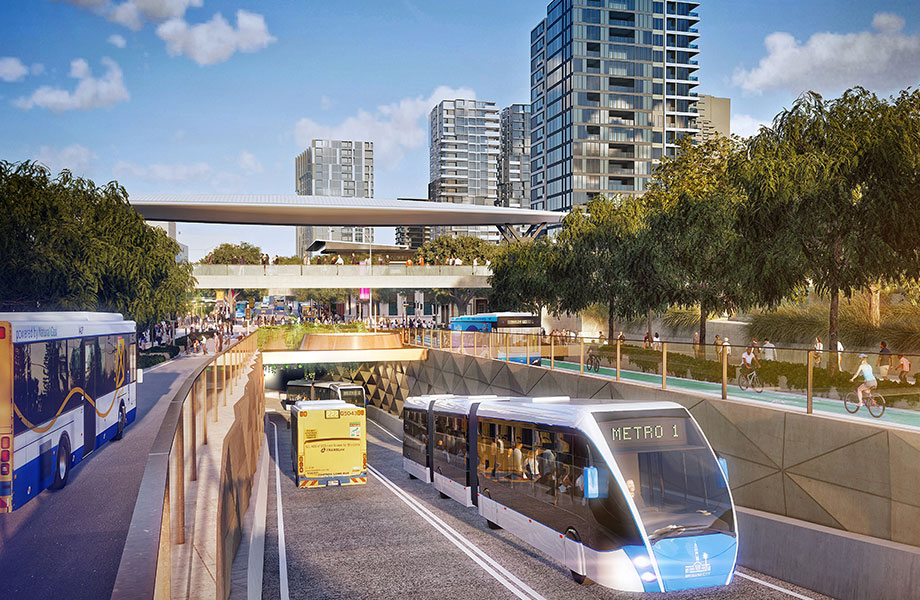 The goal for the Brisbane Metro is to get passengers home up to 50 per cent faster on a high-frequency service, and reduce bus congestion in inner-city streets.